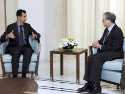 President Al-Assad with Ambassador Ford